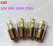 5 Pcs LED B15 12V24V110V220V Bayonet Button Indicator Light Beads Bulbs Alarm
