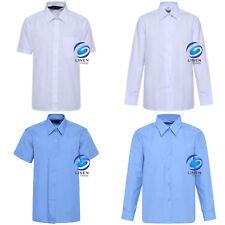 Girls Children Kids School Uniform Blouse Shirt Long & Short Sleeve 2 Colours