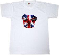 FUNNY BRITISH BULLDOG U.K. ENGLAND ENGLISH MASCOT 100% cotton Mens T-shirt Tee