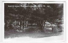 Lovers Lane Barrow Lodge Bushkill Pennsylvania 1950s RPPC Real Photo postcard