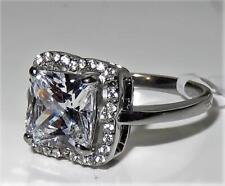 TK3242PB PRINCESS ENGAGEMENT SIMULATED DIAMOND RING ENGAGEMENT stainless steel