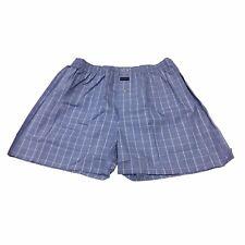 GUASCH 1859 boxer uomo quadri azzurro/bianco 100% cotone