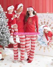 Christmas Women Men Kids Family Pajamas Sleepwear Nightwear Pajamas US Stock