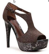 Carlos Santana Women's Galaxy Brown Platform Sandals Shoes SIZES! NIB