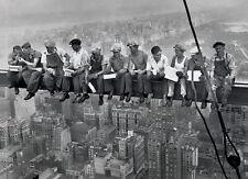 Pranzo in un Skyscraper POSTER Uomini sulla trave primaria NEW YORK SATIN MATT LAMINATO NUOVO
