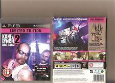 Kane E LYNCH 2 DOG DAYS PLAYSTATION 3 PS 3 LIMITED EDITION