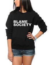 Culpar a la sociedad-Rebelde Anarquía Juventud & Mujer Sudadera