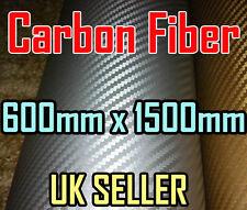 Fibra De Carbono Silver Wrap Vinilo Hoja pegatina 600 Mm * 1.52 m