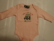 JOHN DEERE Baby Girls 3-6 18 Month Choice Christmas Pink Long Sleeve Bodysuit