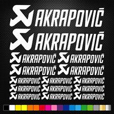 Akrapovic 15 Stickers Autocollants Adhésifs Moto Auto Voiture Sponsor Marques