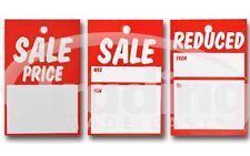 Rojo SALETarjeta Ropa Placas 75mm x 50mm Etiquetar/Etiqueta Pistola Etiquetas