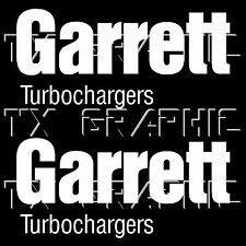 GARRETT TURBOCHARGERS LOGO DECALS STICKERS TURBO CHARGERS JDM BOOST