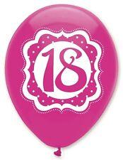 18 años cumpleaños rosa fiesta globos de látex de calidad Helio 18th Decoración