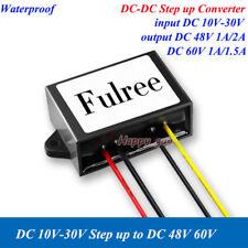 Waterproof DC-DC Boost Step-up Converter Volt Regulator DC12V 24V To 48V 60V Car