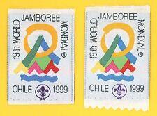 1999 World Scout Jamboree Official Participants Patch (2 VARIETIES) ~ RARE