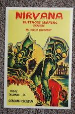 93338 Nirvana Concert Tour 1993 Oakland Coliseum Decor WALL PRINT POSTER FR
