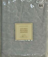 "$99 NEW RH Restoration Hardware Etched Filigree Drapery Grey Rod Pocket 50 x 84"""