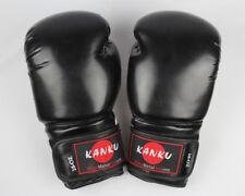 Kanku Boxing Gloves Black 6, 8, 10, 12, 14, 16 Oz for Training Sparring Bag