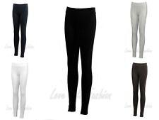 Womens Leggings Full Length Ladies Dance Pants Brody & Co Gym Stretch Cotton