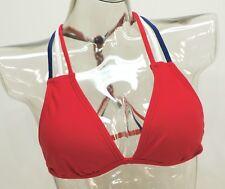 Endless Sun Red White Blue Braided American Flag Swim Bikini Top Ladies #K16242T