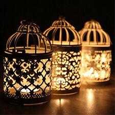FJ- Metal Moroccan Lantern Candlestick Candle Holder Tea Light Wedding Party Dec