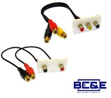 Chargeline Double or Triple RCA Module Wall Faceplate AV Audio Female Modular