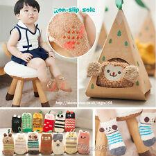 ❆❆ bebé chicos chicas del Niño Animal Lindo Suave Esponjoso Zapatillas Calcetines Calentador de la pierna 0-3Y ❆