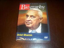 Biography: ARIEL SHARON Israel Israeli Military War Wars A&E Classic TV DVD NEW