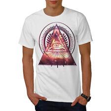 Wellcoda Illuminati Galaxy para hombre Camiseta, Mystic Camiseta Impresa Diseño Gráfico