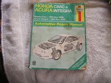 Haynes Honda Civic 1996-98  & Acura Integra 1994-1998 Repair Manual