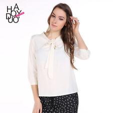 morbida maxi maglia camicia chiara fiocco  estate  misto cotone  4712