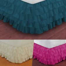 "Versatil Plain Dust Ruffle Around All Corners 1Pc Bed Bedding Gypsy Skirt 20""New"