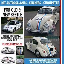 CHOUPETTE 53 - STICKER AUTOCOLLANT VW - BEETLE -  KIT HERBIE COCCINELLE