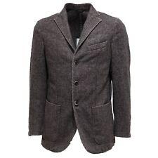 7567L giacca uomo grigia GENIALI lana giacche jackets coats men