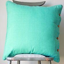 Cushion Cover Pale Aqua Green Blue Cotton Sofa Throw Pillow Daybed Pillow Case