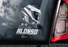 Fernando Alonso - Car Window Sticker - Formula 1 F1 Decal Sign Art HELMET - V05