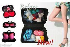 10pcs Hard Eva Big Travel Hard Bra Case Bag Underwear Organizer w/ Zipper