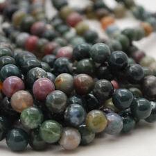 Grade A Natural Indian Agate Fantaisie Jasper Gemstone Round Beads 4 mm 6 mm 8 mm 10 mm