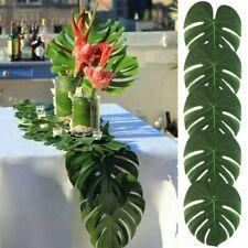 12X Green Jungle Artificial Tropical Palm Leaves Hawaiian Luau Party Table Decor