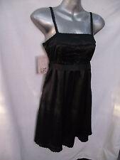 BNWT Womens Sz 10 Zara Brand Smart Black Satin Look Dainty Strap Cocktail Dress