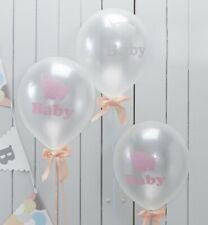 LITTLE ONE Baby Elephant LATEX BALLOONS Baby Shower 1st Birthday Unisex Job Lot