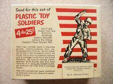 1950 Royal Stars Desserts Toy Soldier RARE Comp UNOPENED Box #4 Grenade Thrower*