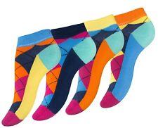"""8 Paar knallig bunte Damen Karo Sneaker """"ARGYLE"""" von Vincent Creation®"""