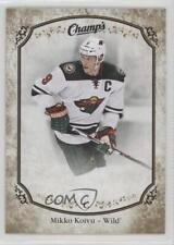 2015-16 Upper Deck Champs Gold Fronts #52 Mikko Koivu Minnesota Wild Hockey Card