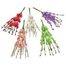 Bundle of 10 Mini Foam Lisianthus Artificial Flowers Crafts Picks