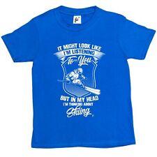 Regarde comme je suis à l'écoute mais je pense Ski Enfants Garçons/Filles T-Shirt