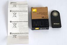 NIKON télécommande ML-L3 pour D610, D7100, D7000, D5300, D5200, D5100,D3300,D90,