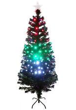 Fibre Optic Green Golden Pink White Christmas Tree Multi LED Lights Pre Lit Star