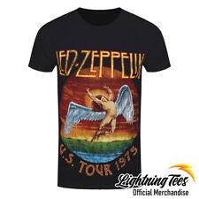 Official Led Zeppelin USA Tour 75 Rock Band T-Shirt