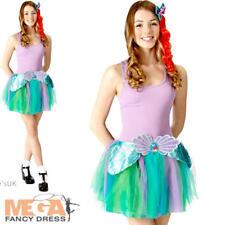 Ariel Tutu Set Ladies Fancy Dress Disney Little Mermaid Teen Costume Accessories